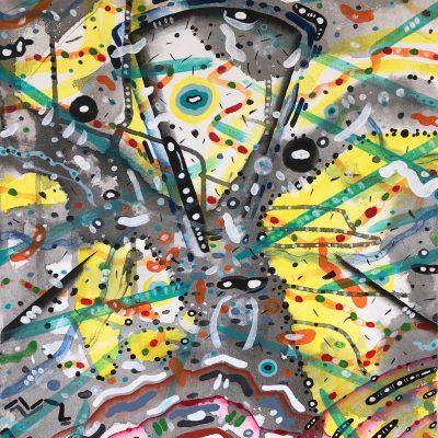 Eye Thatch 22 x 16 inches acrylic on canvas