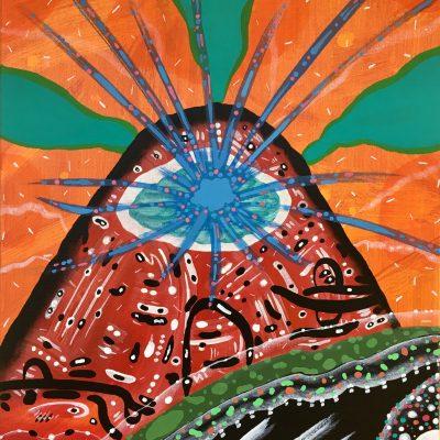 Sundaze Blaze 22 x 16 inches acrylic on canvas