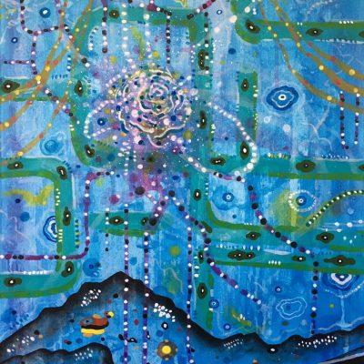 Zephyr Insides 22 x 16 inches acrylic on canvas