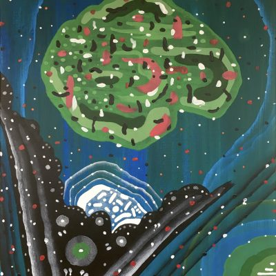 Alluvial Star 20 x 16 inches acrylic on canvas