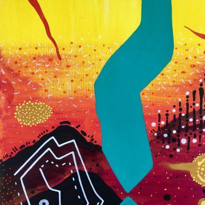 And Then it Fell 13 x 10 inches mixed media on canvas