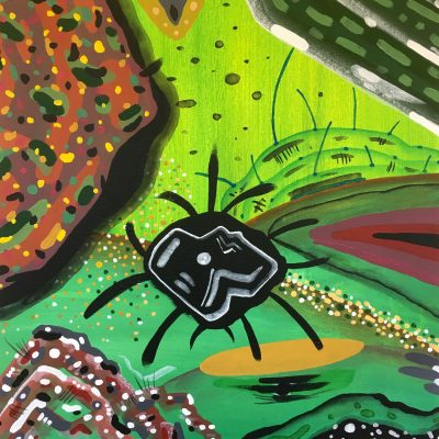 Out in the Field 20 x 16 inches acrylic on canvas