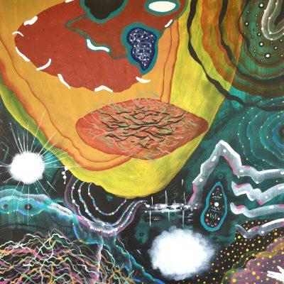 Pre-dawn Travels 24 x 24 inches acrylic on canvas