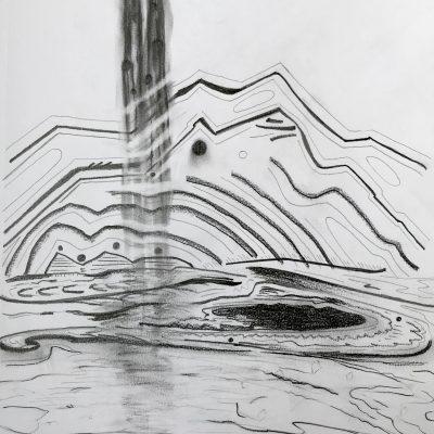 Cascade 12 x 9 inches graphite on paper (2018)